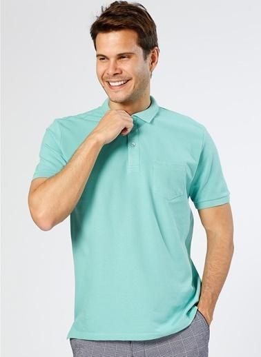 Cotton Bar Polo Yaka Tişört Yeşil